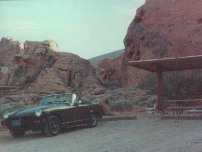 my car at Valley of Fire