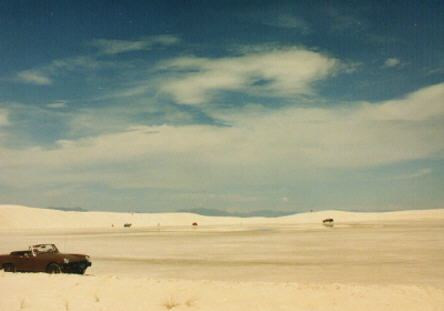 my car at White Sands